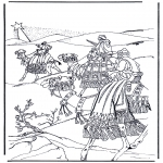 Bible coloring pages - Biblical Magi 1