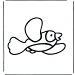 Animals coloring pages - Bird 2