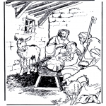 Bible coloring pages - Birth Jesus