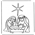 Bible coloring pages - Birth of Jesus 1