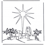 Bible coloring pages - Birth of Jesus 2