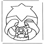 Bible coloring pages - Birth of Jesus 3