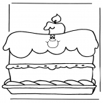 Theme coloring pages - Birthday 1