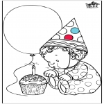 Theme coloring pages - Birthday 1 year