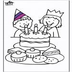 Theme coloring pages - Birthday 3