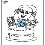 Theme coloring pages - Birthday 4