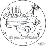 Theme coloring pages - Birthday 4 year