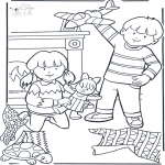 Theme coloring pages - Birthday present