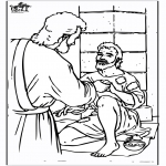 Bible coloring pages - Blind man