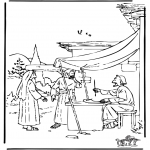 Bible coloring pages - Boaz and Ruth