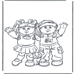 Kids coloring pages - Boy and girl