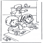 Kids coloring pages - Breakfast