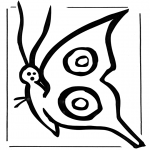Animals coloring pages - Butterfly 2