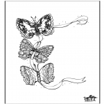 Animals coloring pages - Butterfly 3