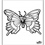 Animals coloring pages - Butterfly 4