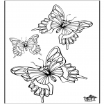 Animals coloring pages - Butterfly 5