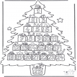Christmas coloring pages - Calender advent