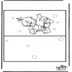 Theme coloring pages - Card birth 4