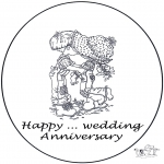 Theme coloring pages - Card…year marriage