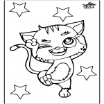 Animals coloring pages - Cat 3