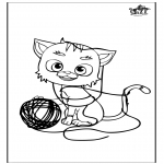 Animals coloring pages - Cat 5