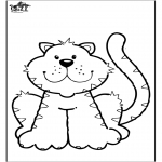 Animals coloring pages - Cat 6