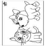 Animals coloring pages - Cat and dog