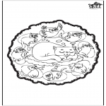 Mandala Coloring Pages - Cats mandala