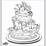 Theme coloring pages - Celebration cake