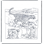 Animals coloring pages - Cheetah 1