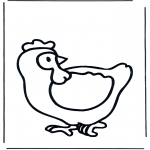 Animals coloring pages - Chicken 1
