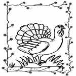 Animals coloring pages - Chicken 2