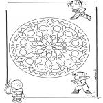 Mandala Coloring Pages - Children geomandala 1