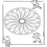 Mandala Coloring Pages - Children geomandala 2