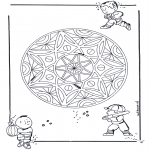 Mandala Coloring Pages - Children geomandala 3