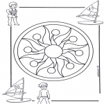 Mandala Coloring Pages - Children mandala 1