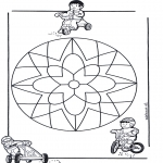 Mandala Coloring Pages - Children mandala 10