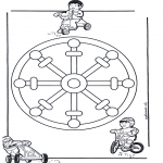 Mandala Coloring Pages - Children mandala 11