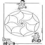 Mandala Coloring Pages - Children mandala 14