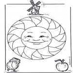 Mandala Coloring Pages - Children mandala 15