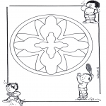 Mandala Coloring Pages - Children mandala 16
