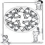 Mandala Coloring Pages - Children mandala 17