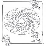 Mandala Coloring Pages - Children mandala 18