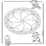 Mandala Coloring Pages - Children mandala 19