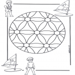 Mandala Coloring Pages - Children mandala 2