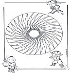 Mandala Coloring Pages - Children mandala 20