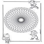 Mandala Coloring Pages - Children mandala 23
