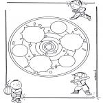 Mandala Coloring Pages - Children mandala 24