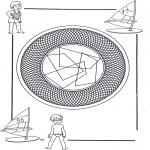 Mandala Coloring Pages - Children mandala 25