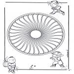Mandala Coloring Pages - Children mandala 26